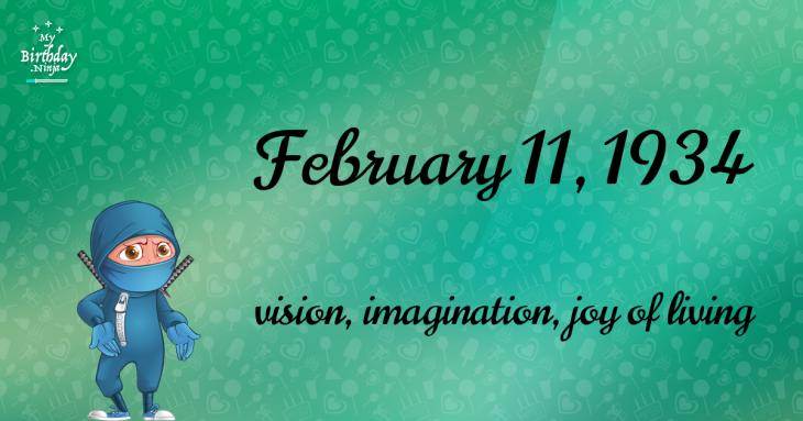 February 11, 1934 Birthday Ninja