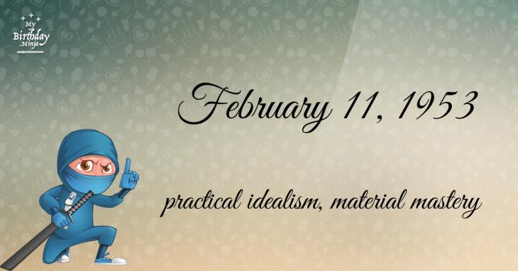 February 11, 1953 Birthday Ninja