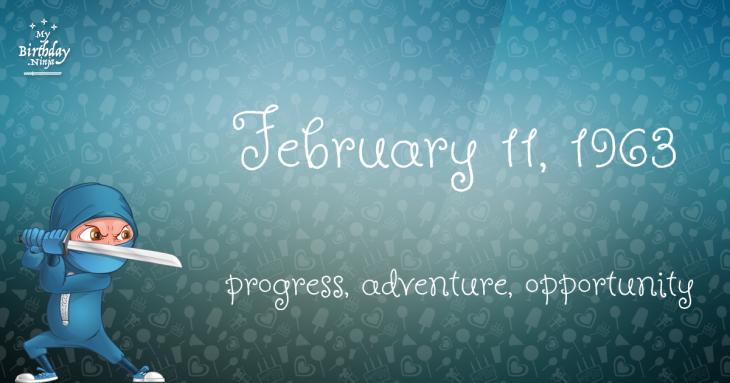 February 11, 1963 Birthday Ninja