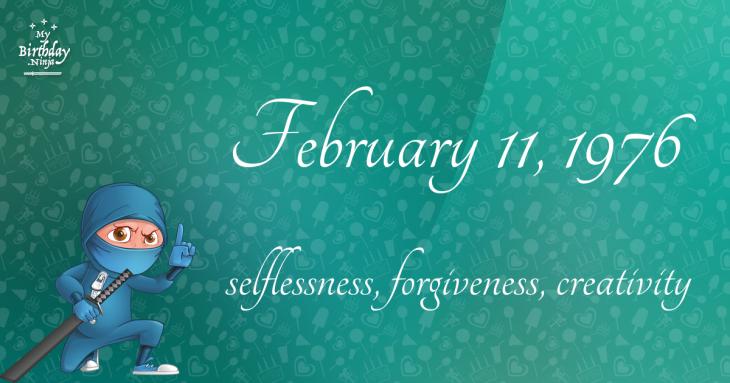 February 11, 1976 Birthday Ninja