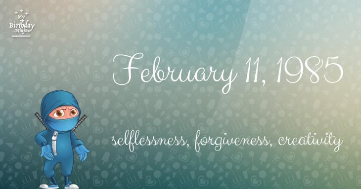 February 11, 1985 Birthday Ninja