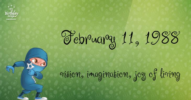 February 11, 1988 Birthday Ninja