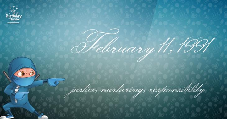 February 11, 1991 Birthday Ninja
