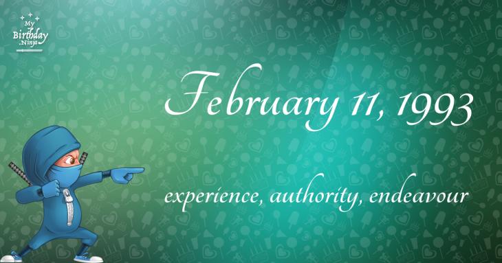 February 11, 1993 Birthday Ninja