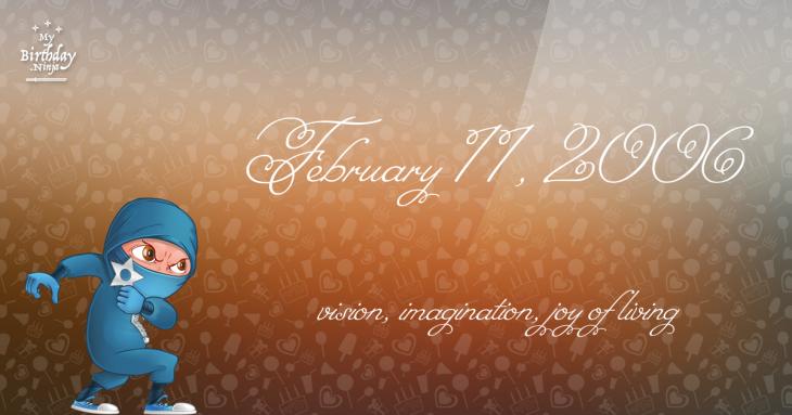 February 11, 2006 Birthday Ninja