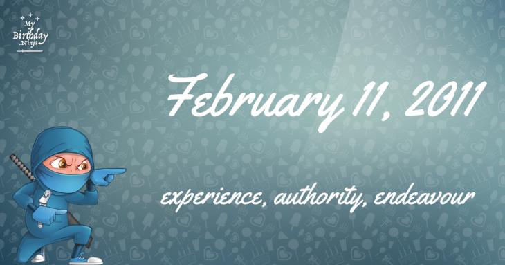 February 11, 2011 Birthday Ninja
