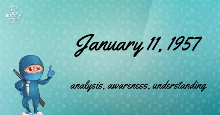 January 11, 1957 Birthday Ninja