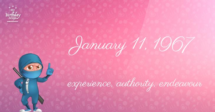January 11, 1967 Birthday Ninja