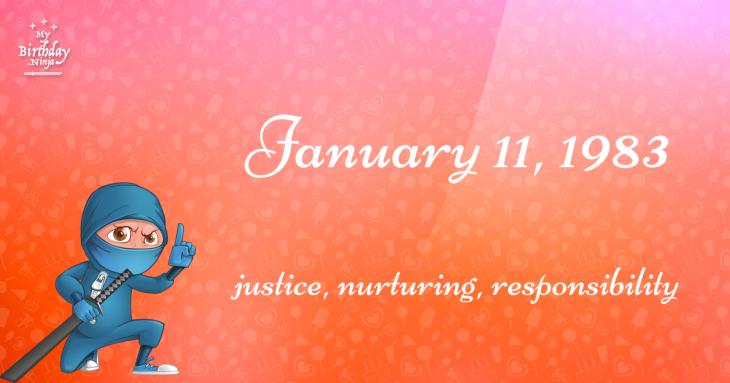 January 11, 1983 Birthday Ninja
