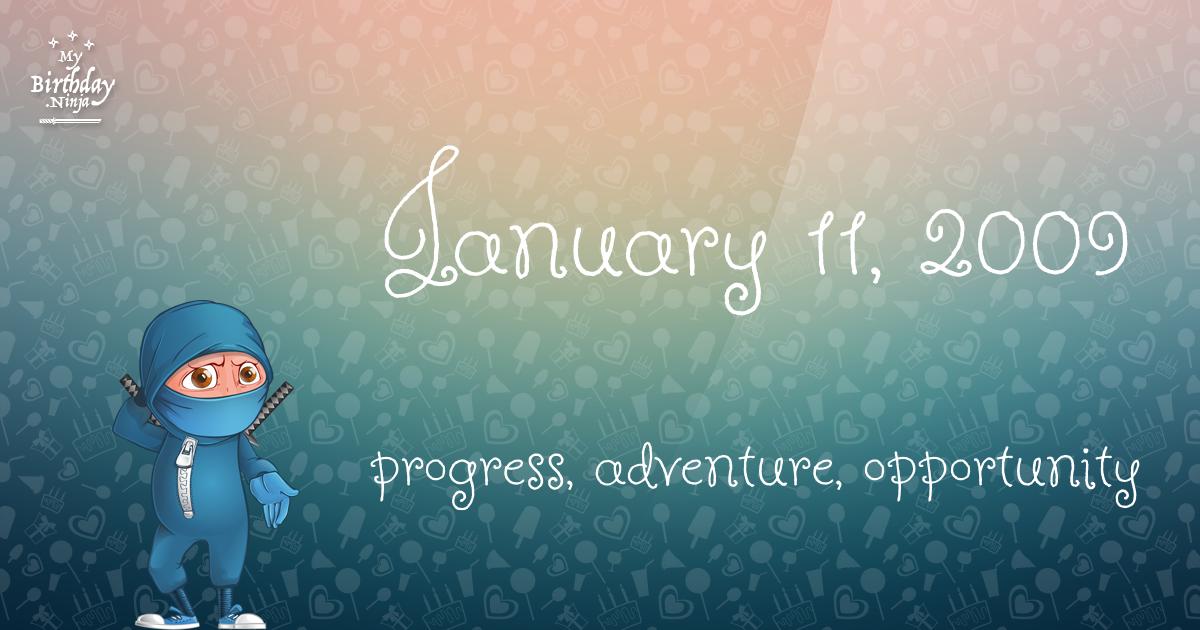 January 11, 2009 Birthday Ninja Poster