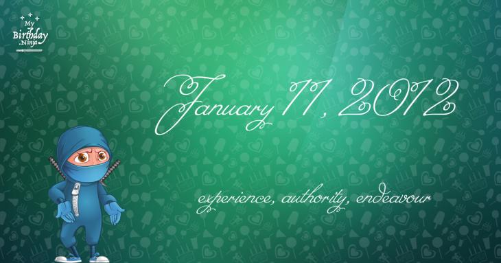 January 11, 2012 Birthday Ninja