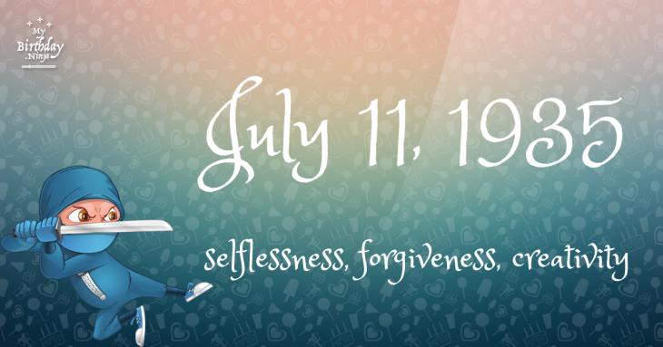 July 11, 1935 Birthday Ninja