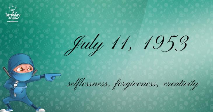 July 11, 1953 Birthday Ninja