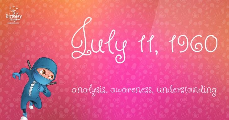 July 11, 1960 Birthday Ninja
