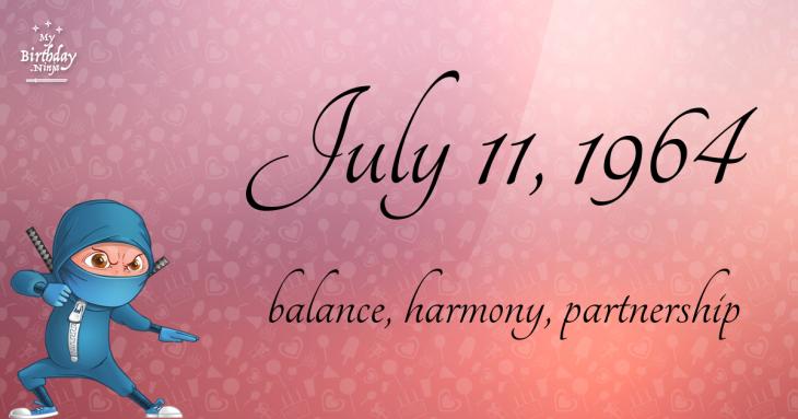 July 11, 1964 Birthday Ninja