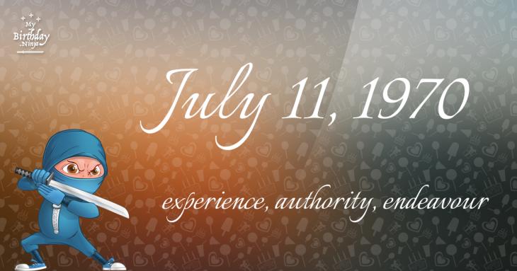 July 11, 1970 Birthday Ninja