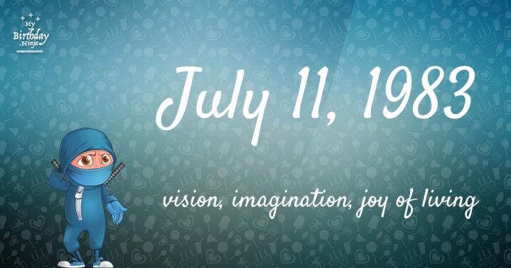 July 11, 1983 Birthday Ninja