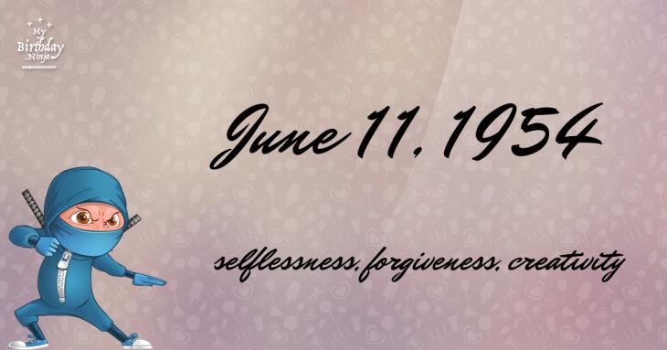 June 11, 1954 Birthday Ninja