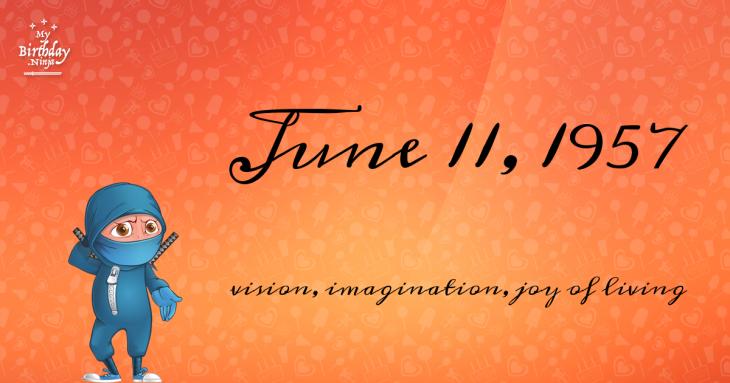 June 11, 1957 Birthday Ninja