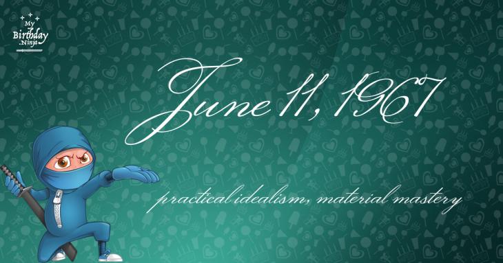 June 11, 1967 Birthday Ninja