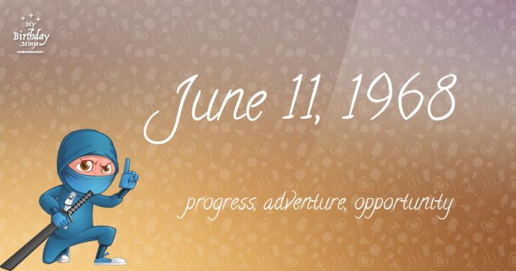 June 11, 1968 Birthday Ninja