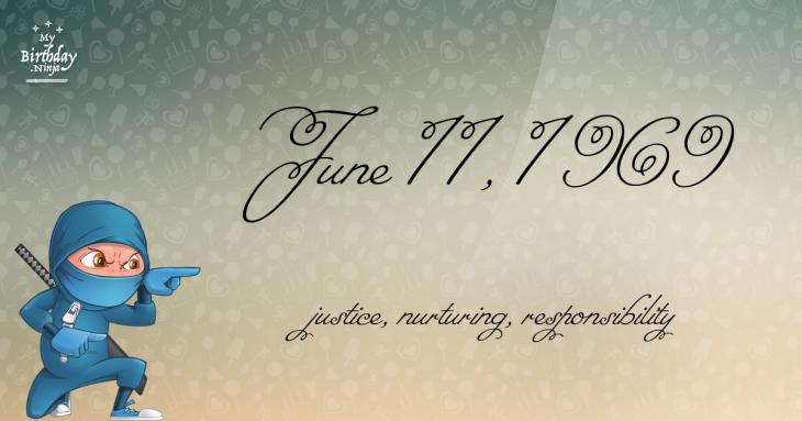 June 11, 1969 Birthday Ninja