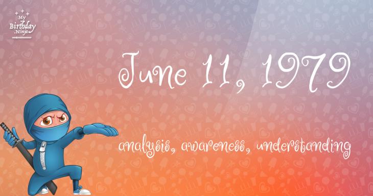 June 11, 1979 Birthday Ninja