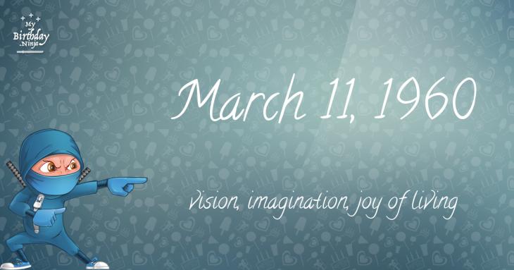 March 11, 1960 Birthday Ninja