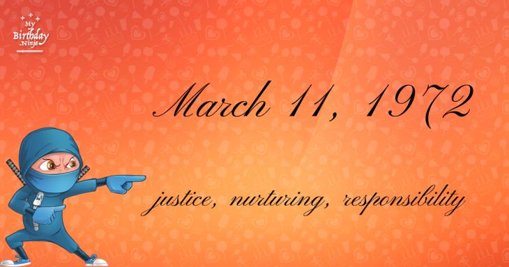 March 11, 1972 Birthday Ninja