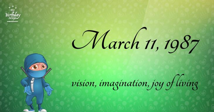 March 11, 1987 Birthday Ninja