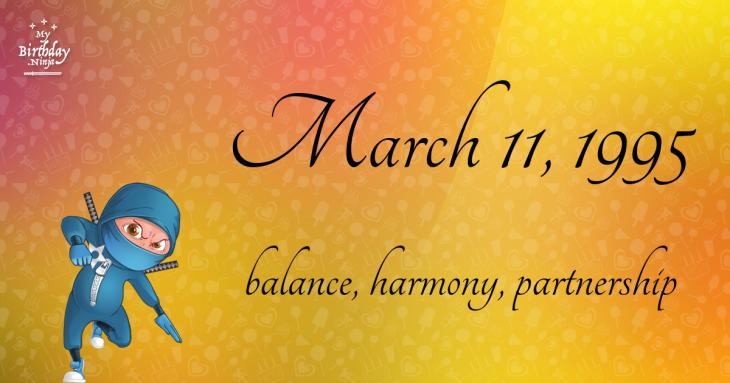 March 11, 1995 Birthday Ninja