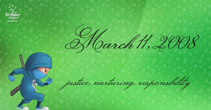 March 11, 2008 Birthday Ninja