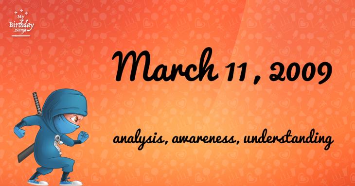 March 11, 2009 Birthday Ninja