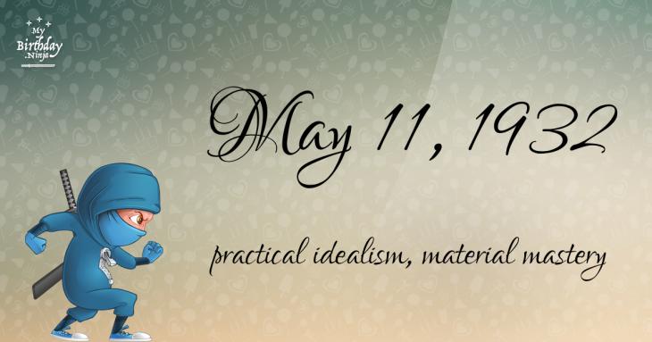 May 11, 1932 Birthday Ninja