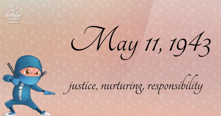 May 11, 1943 Birthday Ninja
