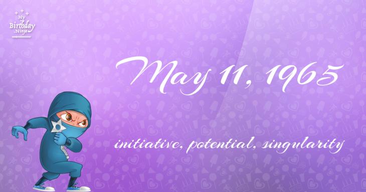 May 11, 1965 Birthday Ninja