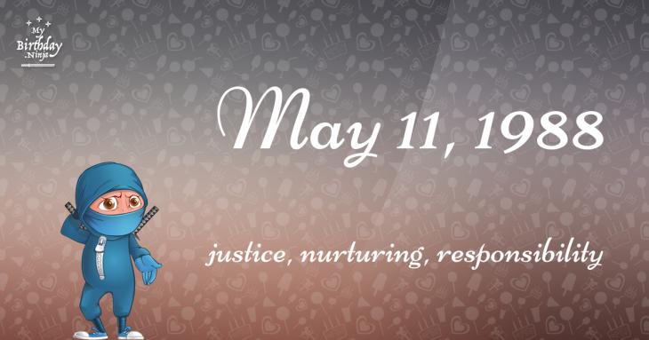 May 11, 1988 Birthday Ninja