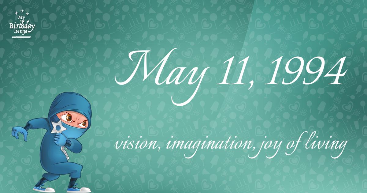 May 11, 1994 Birthday Ninja Poster