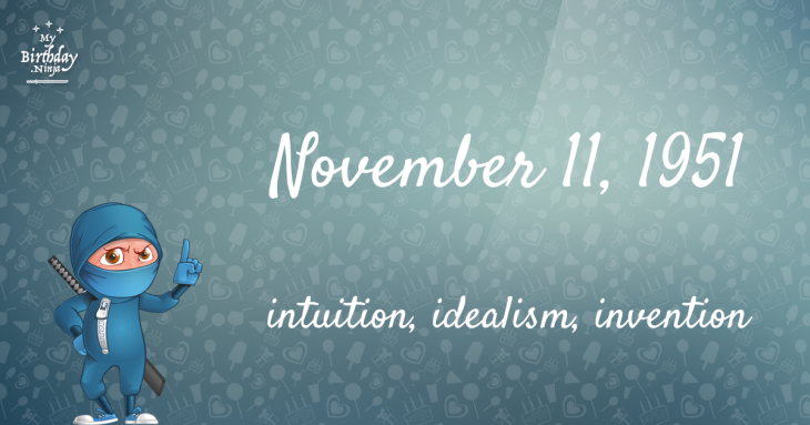 November 11, 1951 Birthday Ninja