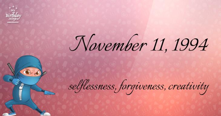 November 11, 1994 Birthday Ninja