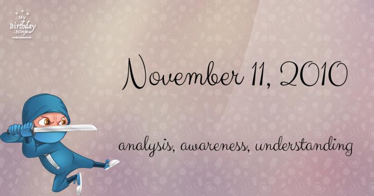 November 11, 2010 Birthday Ninja