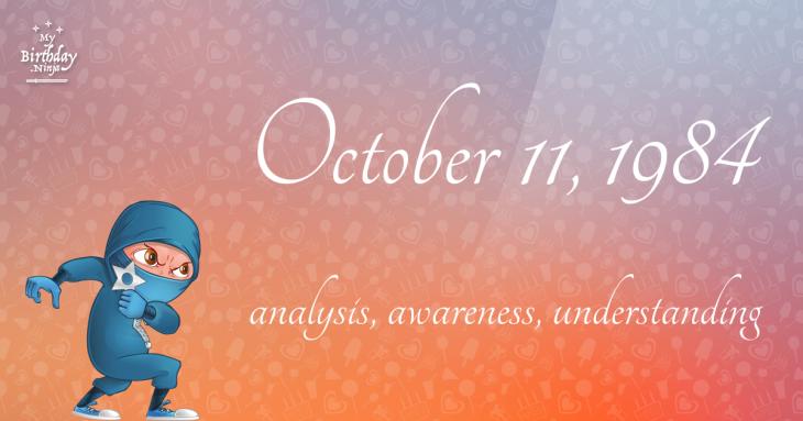 October 11, 1984 Birthday Ninja