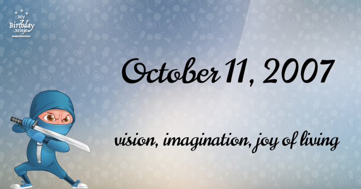 October 11, 2007 Birthday Ninja