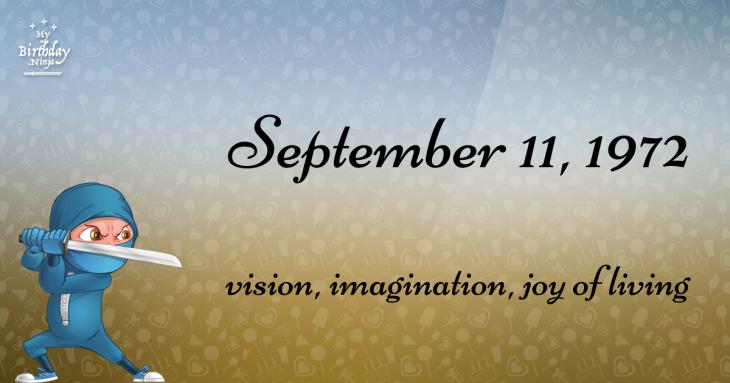 September 11, 1972 Birthday Ninja