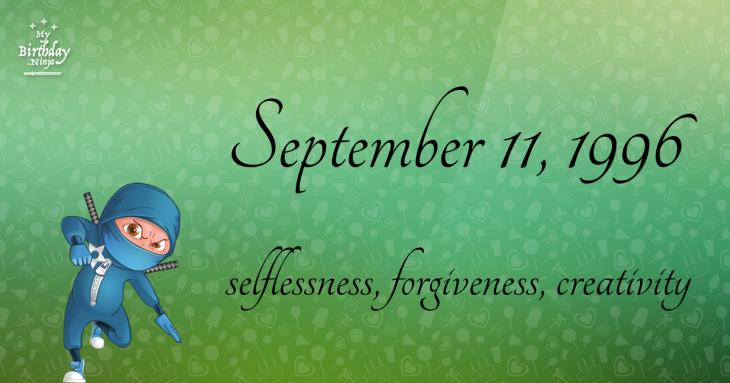 September 11, 1996 Birthday Ninja