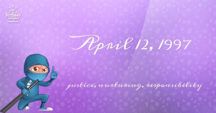 April 12, 1997 Birthday Ninja