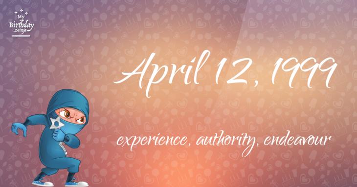 April 12, 1999 Birthday Ninja