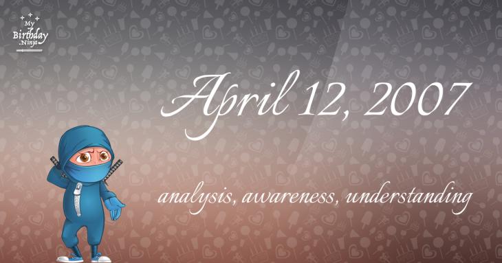 April 12, 2007 Birthday Ninja