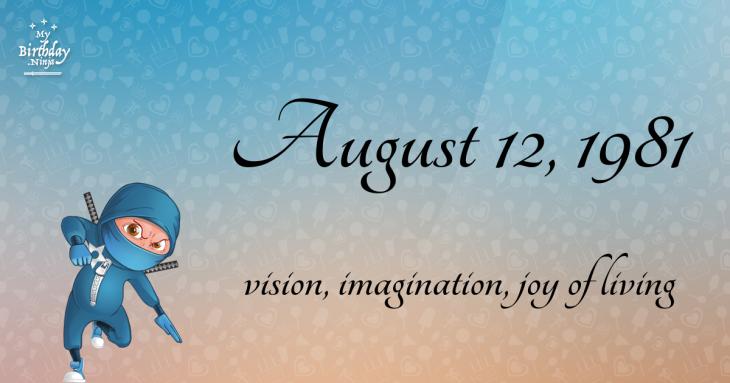 August 12, 1981 Birthday Ninja