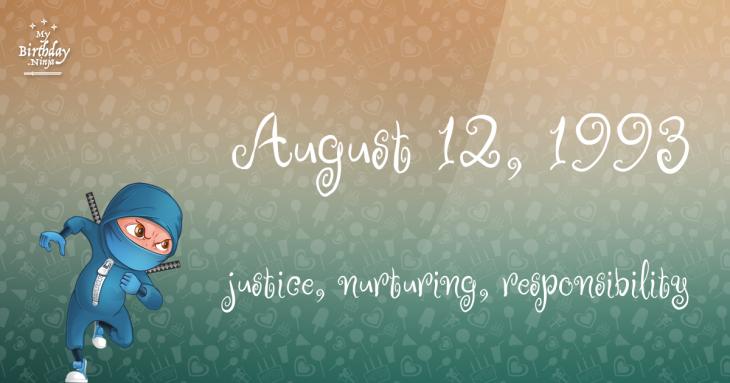 August 12, 1993 Birthday Ninja